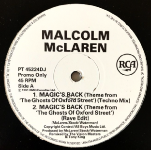 "Malcolm McLaren - Magic's Back (Ghosts Of Oxford Street) (Dance Mixes) (12"") (Promo) (G++/G++)"